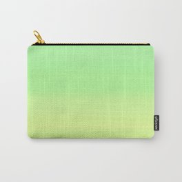 Lime Pastel Gradient Stripes | Green yellow pattern Carry-All Pouch