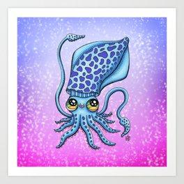 Happy Squid Art Print