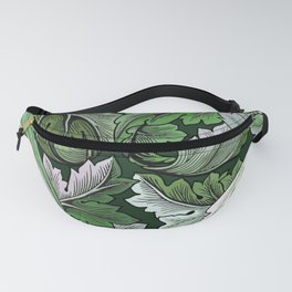 Art Nouveau William Morris Green Acanthus Leaves Fanny Pack