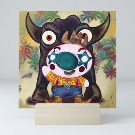 Chubby Rodeo Clown Mini Art Print