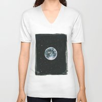 the moon V-neck T-shirts featuring Moon by Laia™