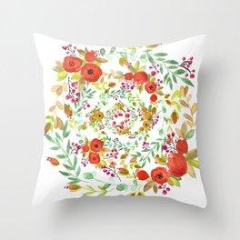 Flowers Circle Throw Pillow
