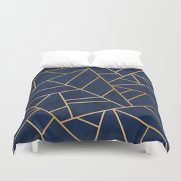 Art Deco Blue Duvet Cover