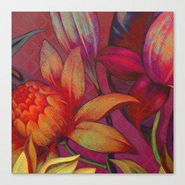 """Retro Giant Floral Pattern"" Canvas Print"