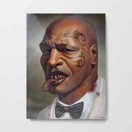 "Mike Tyson ""Punched OUT"" Metal Print"