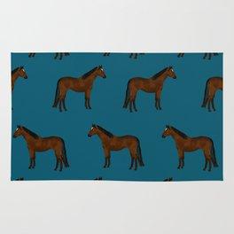 Bay Horse breed farm animal pet pattern horses Rug