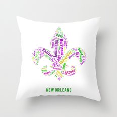 Word Cloud - NOLA Throw Pillow