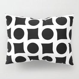 TIMELESS ORA. BLACK AND WHITE GEOMETRIC ELEMENTS Pillow Sham