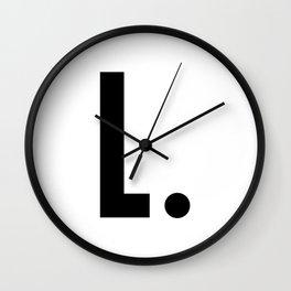 L - Alphabet Wall Clock
