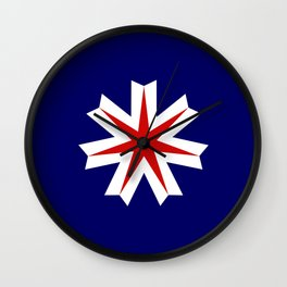 hokkaido region flag japan prefecture Wall Clock