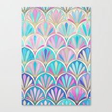 Glamorous Twenties Art Deco Pastel Pattern Canvas Print