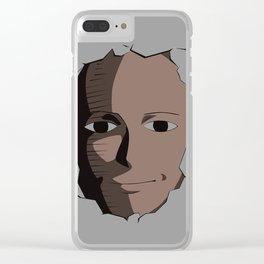 Saitama Face Clear iPhone Case