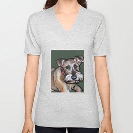 Maggie the irish terrier Unisex V-Neck