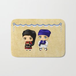 Greek Chibis Bath Mat