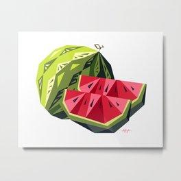 Edgy Watermelon Metal Print