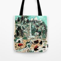canada Tote Bags featuring Wild Canada by Mathilde George