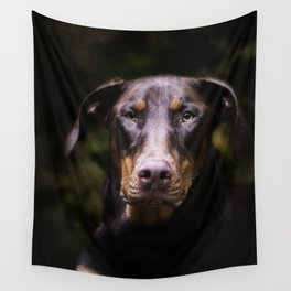 Red Dobie Wall Tapestry