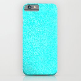 scales, white on lt blue iPhone Case