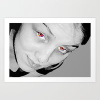 no face Art Prints featuring Face by Whimsy Notions Designs