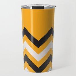 Orange Zigzag Travel Mug