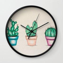 Cactus Trio Wall Clock