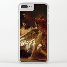 """Theodore Gericault """"A Roman general in his bedchamber"""" Clear iPhone Case"""