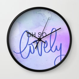 Oh So Lovely - Cool Toned Watercolours Wall Clock