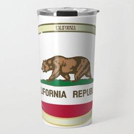 California State Flag Oval Button Travel Mug