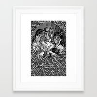 sister Framed Art Prints featuring SISTER  by DIVIDUS
