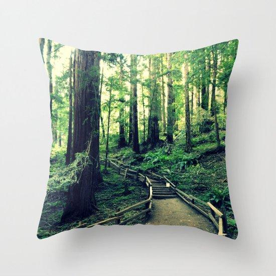 Muir Woods Path Throw Pillow