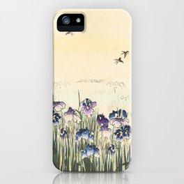 Iris meadow iPhone Case