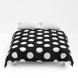 Polka Dot (White & Black Pattern) Comforters
