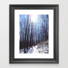 SNOWYTRAIL Framed Art Print
