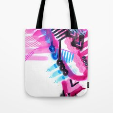 Blue, Pink and Black Tote Bag