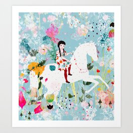 Storybook Horse Art Print