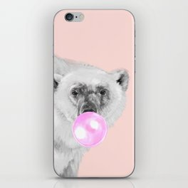 Bubble Gum Polar Bear iPhone Skin