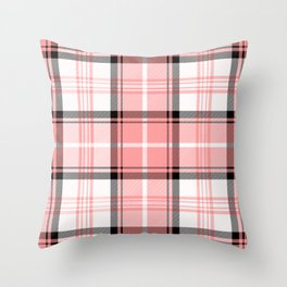 Pink Tartan Throw Pillow