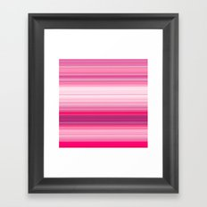 Easy Stripes Framed Art Print