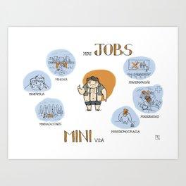 Minijobs (Spanish version) Art Print