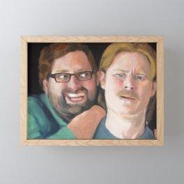 Tim and Eric Portrait Framed Mini Art Print
