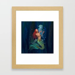 Beautiul mermaid Framed Art Print