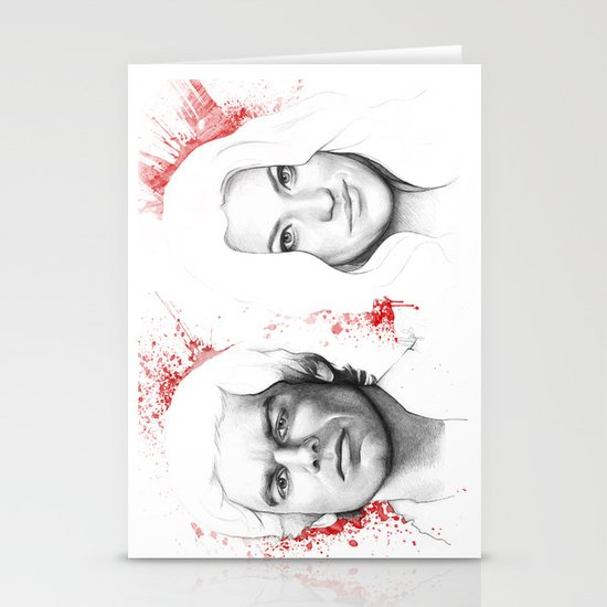 Dexter and Debra Stationery Cards