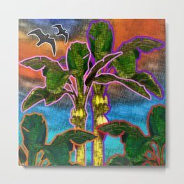 Banana Trees Metal Print
