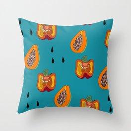 DINNER IN SPAIN BLUE Throw Pillow