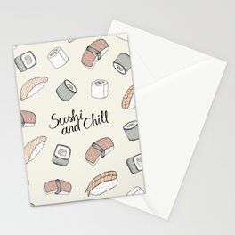 Sushi and Chill Stationery Cards