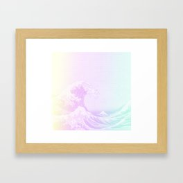 Great Vaporwave Off Kanagawa Framed Art Print