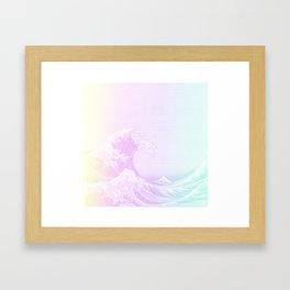 Great Vaporwave Off Kanagawa Framed Art Print