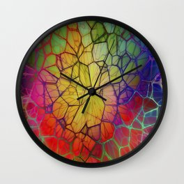 Colorful Abstract Pattern Wall Clock