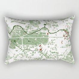 Berlin city map minimal Rectangular Pillow