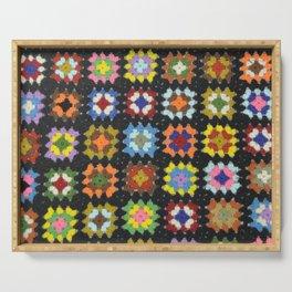 Crochet Granny Squares // Bright Serving Tray